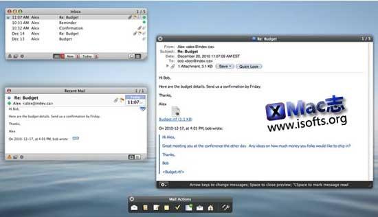 [Mac]更加高效地使用Mail邮件工具 : Mail Perspectives