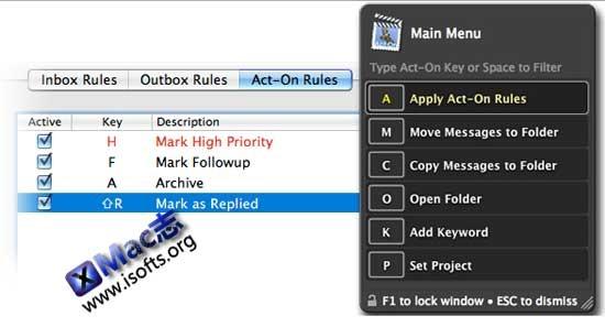 [Mac]Mail邮件增强型管理工具 : Mail Act-On