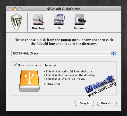 [Mac]专业的硬盘修复工具 : Alsoft DiskWarrior