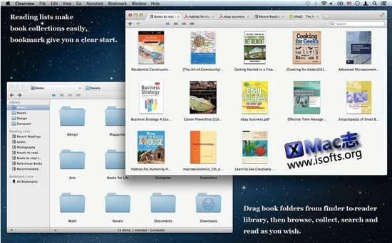 [Mac]简洁易用的电子书阅读器 : Clearview