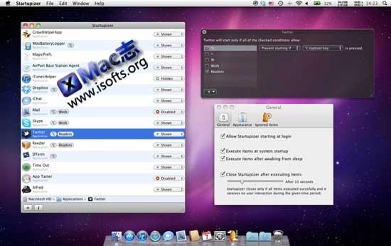 [Mac]开机启动项管理工具 : Startupizer
