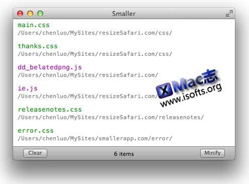 [Mac]HTML/PHP/CSS/JS代码压缩工具 : Smaller