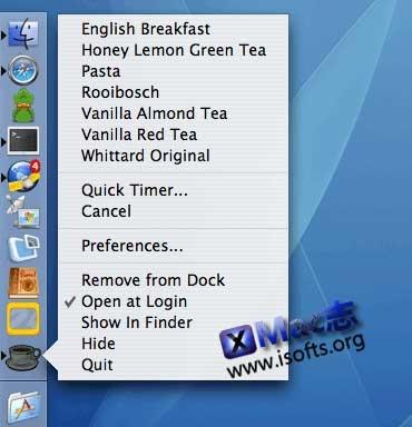 [Mac]泡茶用的定时工具 : Cuppa