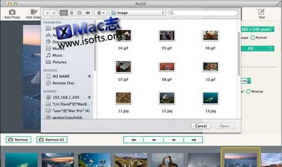 [Mac]GIF动画制作工具 : PicGIF