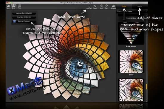 [Mac]照片形状特效处理工具: Picture Shapes