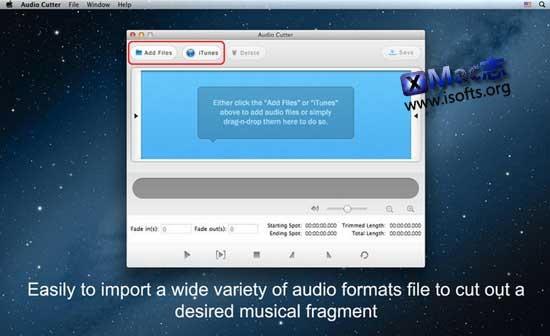 [Mac]音频分割工具 : Audio Cutter