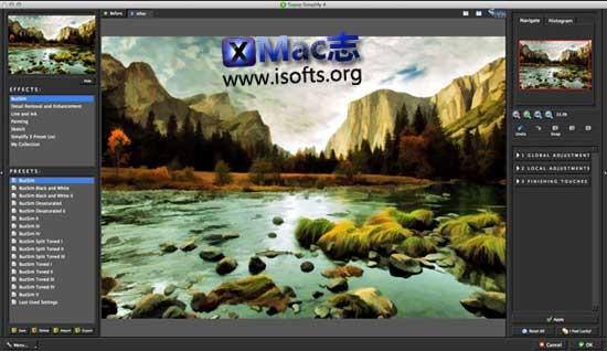 [Mac]照片变绘画艺术的滤镜软件 : Topaz Simplify
