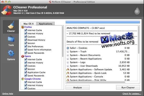 [Mac]系统优化清理工具 : CCleaner Professional Edition for Mac