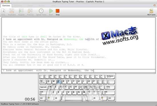 [Mac]英文打字训练协助软件 : NCH Software KeyBlaze Typing Tutor