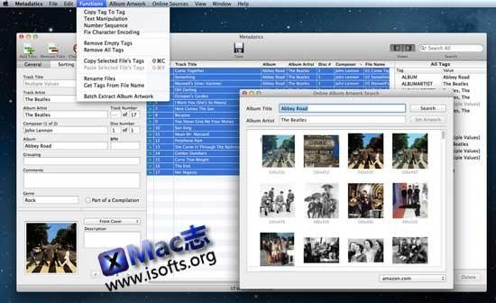 [Mac]音频元数据编辑器 : Metadatics