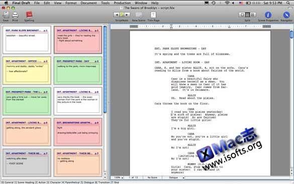 [Mac]剧本写作软件 : Final Draft