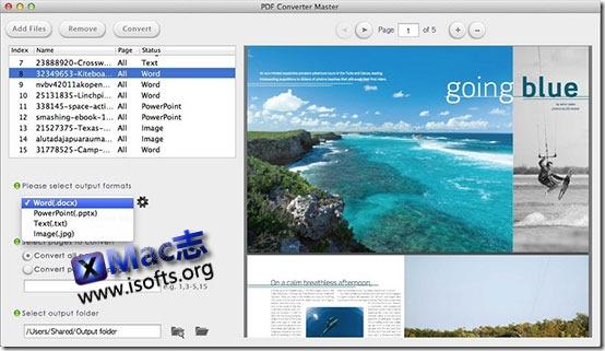 [Mac]全能PDF格式转换工具 : PDF Converter Master