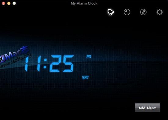[Mac]超酷的桌面时钟软件 : Apalon My Alarm Clock