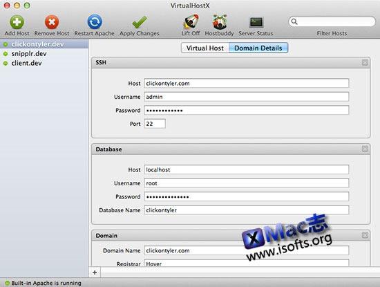 [Mac]将Mac打造成网站托管服务器 : VirtualHostX