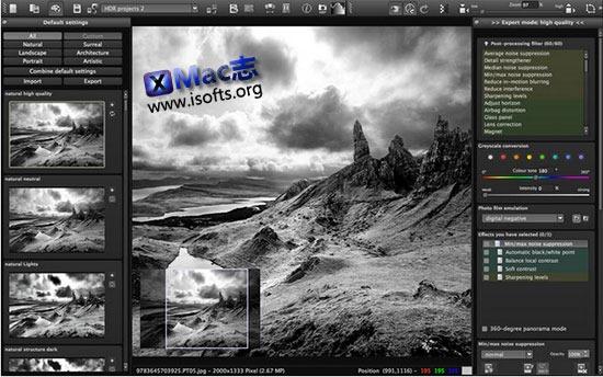 [Mac]图像黑白滤镜工具 : SILVER projects professional