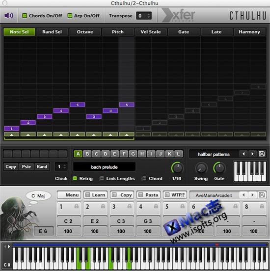 [Mac]Xfer Records Cthulhu : 合成器插件