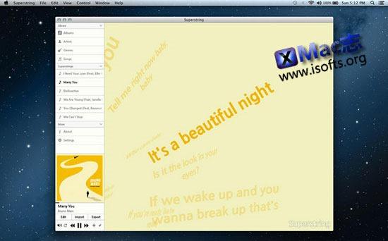 [Mac]歌词视频制作工具 : Superstring Pro