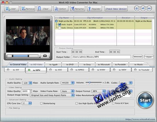 [Mac]高清视频转换工具 : WinX HD Video Converter