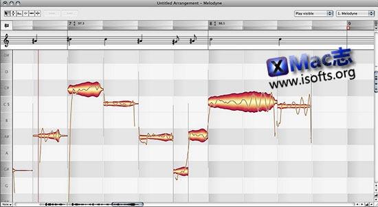 [Mac]Celemony Melodyne editor : Melodyne 音频编辑器