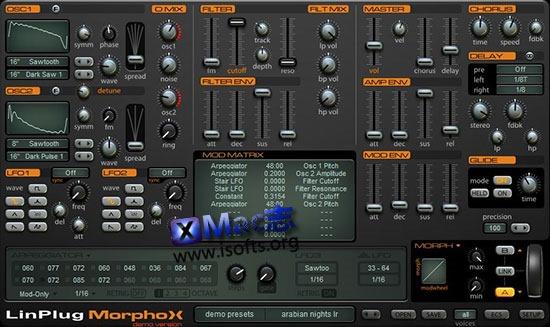 [Mac]LinPlug MorphoX : 虚拟合成器