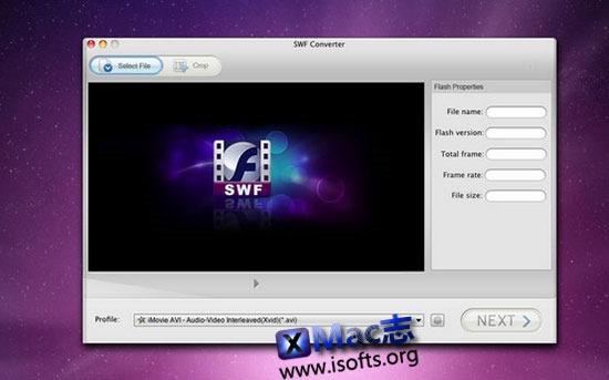 [Mac]将swf格式的flash文件转换成视频文件 : SWF Converter