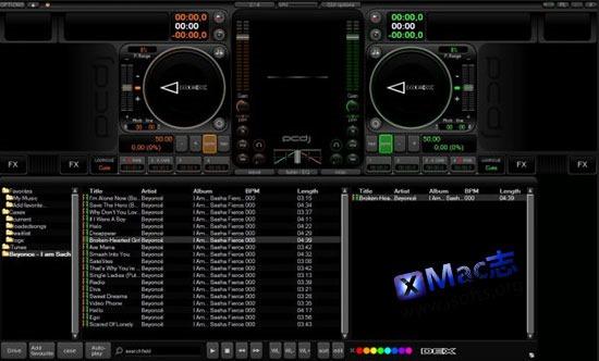 [Mac]DJ打碟混音工具 : PCDJ DEX