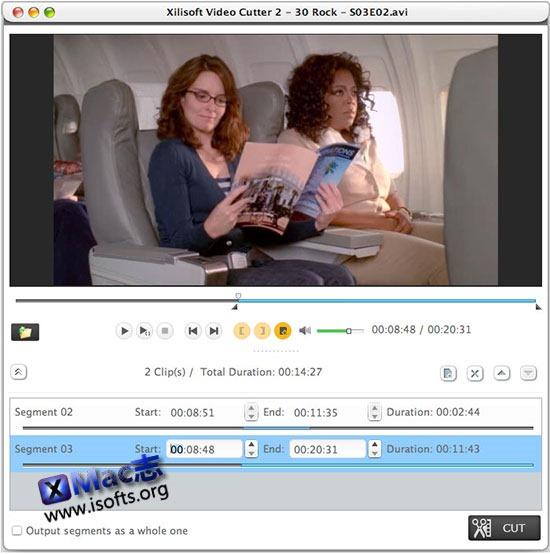 [Mac]视频剪辑工具 : Xilisoft Video Cutter