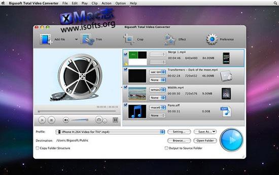 [Mac]全能视频格式转换器 : Bigasoft Total Video Converter