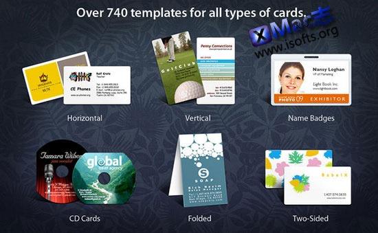 [Mac]名片设计制作工具 : Business Card Composer