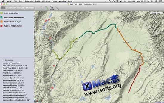 [Mac]GPS数据编辑器 : Adze