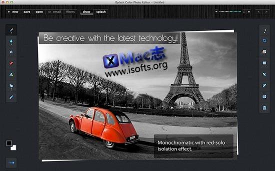 [Mac]照片除色工具 : ISplash Color Photo Editor
