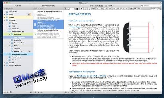 [Mac]个人笔记软件 : Notebooks