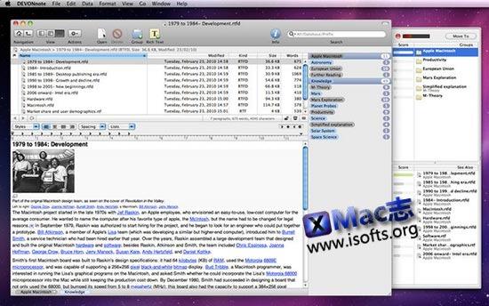 [Mac]实用的笔记软件 : DEVONnote