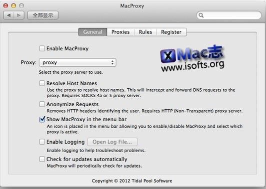 [Mac]方便的网络代理软件 : MacProxy
