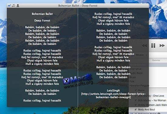 [Mac]iTunes音乐播放歌词自动下载匹配工具 : Singer Song Reader