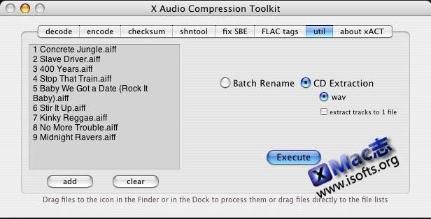 [Mac]音频文件压缩工具 : xACT