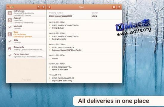[Mac]快递单跟踪查询工具 : Parcel
