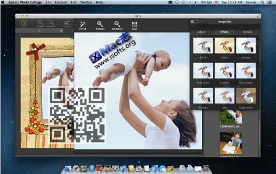 [Mac]图像编辑处理工具 : Ephnic Photo Collage