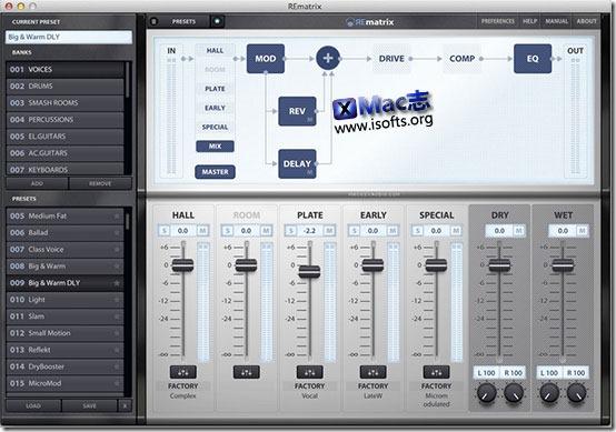 [Mac]音频混响工具 : Overloud REmatrix