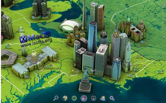 [Mac]制作精美的3D全球地图 : Earth 3D – Amazing Atlas