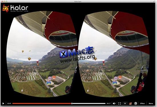 [Mac]360°全景视频播放器 : Kolor Eyes