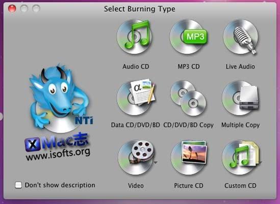[Mac]专业的刻录软件 : NTI Dragon Burn