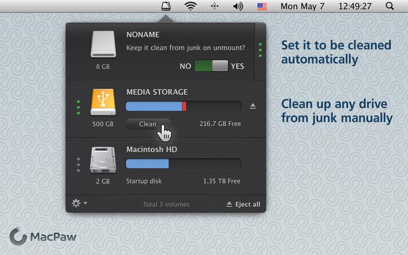 CleanMyDrive : Mac OS X免费的垃圾文件清理工具