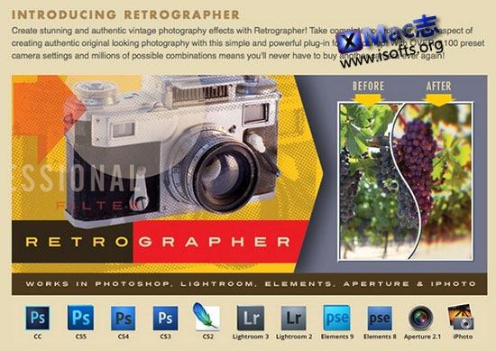 [Mac]图像特效处理插件包 : Mister Retro Retrographer Plugin