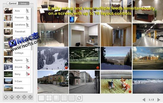 [Mac]网络摄像头监控软件 : UNetCams Multicam Monitor