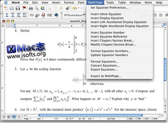 [Mac]数学公式编辑器 : MathType
