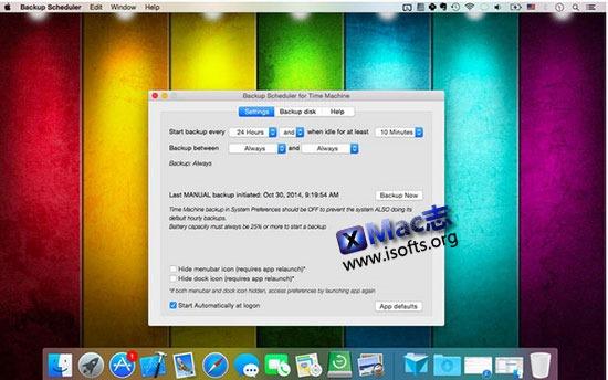 [Mac]Time Machine定时备份工具 : Backup Scheduler for Time Machine