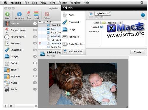 [Mac]知识片段管理笔记工具 : yojimbo