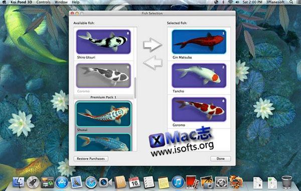 [Mac]池塘金鱼3D动态桌面 : Koi Pond 3D