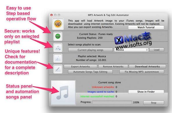 [Mac]MP3音乐文件组织管理工具 : MP3 Art & Tag